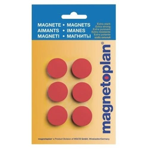 magnetoplan Magnet Discofix Hobby 16645606 25mm rt 6 St./Pack