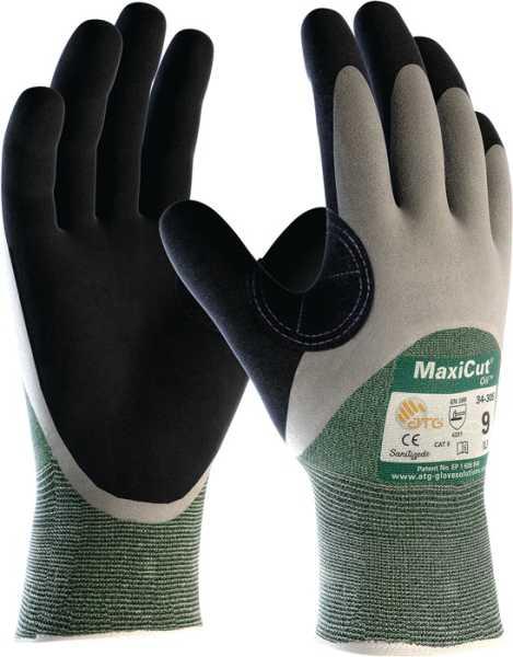 2491-8 Schnittschutzhandschuhe Größe 8 grün/schwarz Nylon/Glasfaser/PES/El. m.N