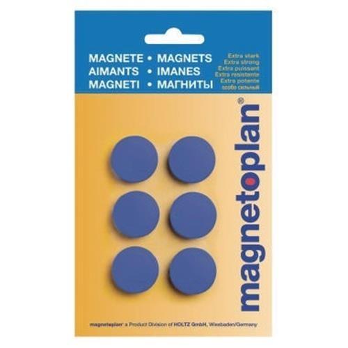 magnetoplan Magnet Discofix Hobby 16645614 25mm d.blau 6 St./Pack