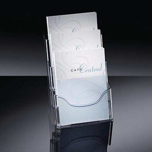 Sigel Prospekthalter LH130 für DIN A4 3Fächer Arcyl glasklar