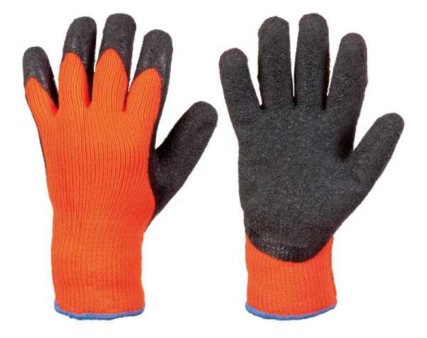 RASMUSSEN, Kälteschutzhandschuh, PolyAcryl, Latexbeschichtung, orange, Gr. 10