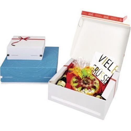 ColomPac® Geschenkbox Exclusiv CP068.92/02 rote Schleife weiß