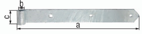 GAH 312381 Ladenband Breite 60 mm Länge 1000 x 60 mm Stärke 8 mm D 20 mm Stahl