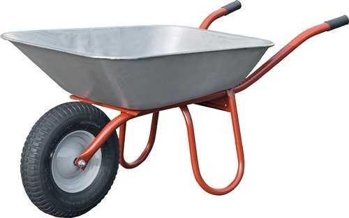 112710 Schubkarre B400xD100mm Luftrad Stahlblechfelge mit Kunststoffgleitlager