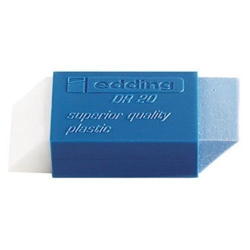 edding Radierer DR 20 4-DR20 Kunststoff transparent/blau